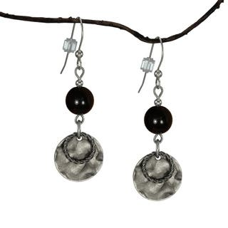 Jewelry by Dawn Black With Hammered Double Drop Earrings https://ak1.ostkcdn.com/images/products/7194189/P14680985.jpg?impolicy=medium