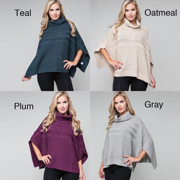 Stanzino Women's Knitted Poncho Sweater