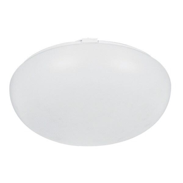 Mushroom 2-light White Fluorescent Flush Mount