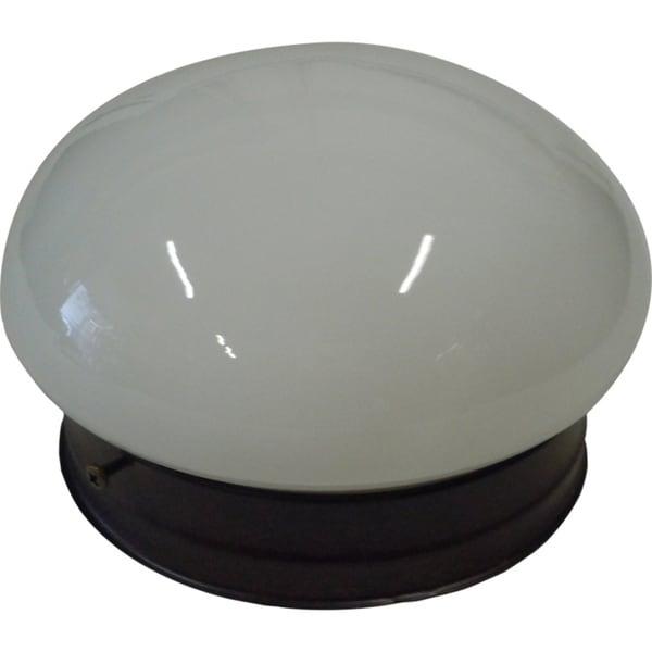 Opal Mushroom 1-light Rubbed Bronze Ceiling Mount