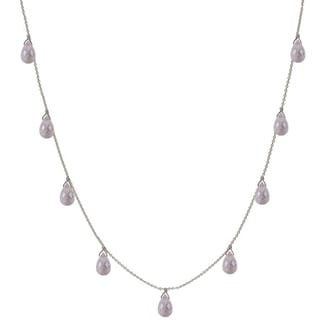 Handmade Ashanti Rose Quartz Briolette Necklace (Sri Lanka)
