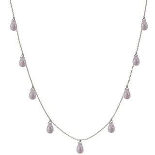 Handmade Ashanti Rose Quartz Briolette Necklace (Sri Lanka)