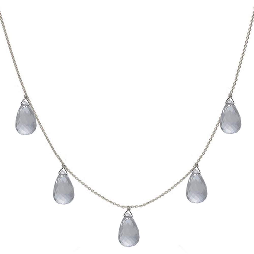 Ashanti Natural Rock Crystal Briolette Necklace (Sri Lanka)