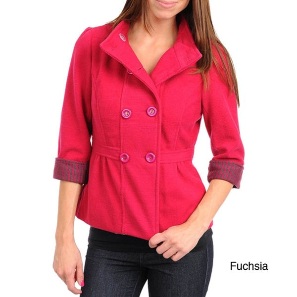 Stanzino Women's Jacket with Rolled Up Sleeve Detail