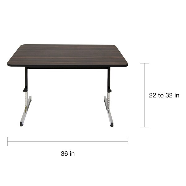Exceptional Studio Designs Adapta 36 In. Wide X 20 In. Deep Adjustable Table   Free  Shipping Today   Overstock.com   14681133