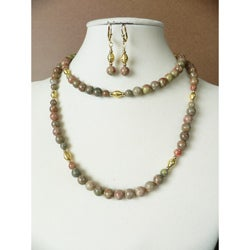 'Andalusian Gold' Necklace and Earring Set
