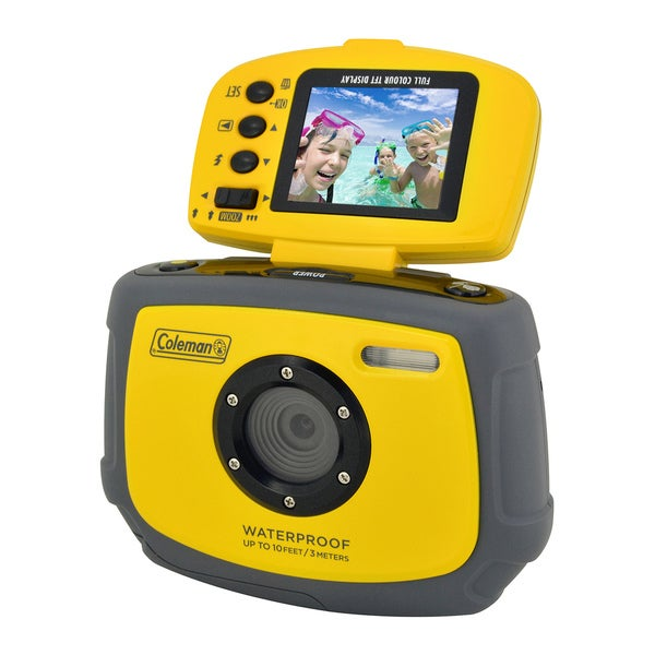 Coleman Xtreme C4WP-Y 12MP Waterproof Digital Camera with Flip-up Screen