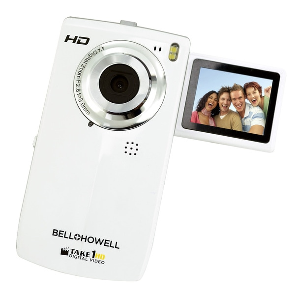 Bell+Howell Take1HD Flip Video Camcorder with 2GB SD Card (White)