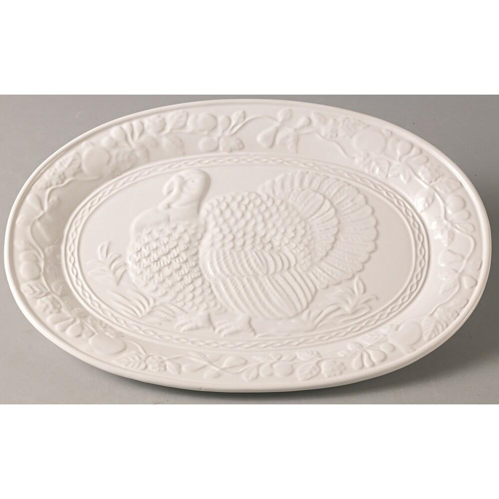 Red Vanilla Classic Italian 18-inch Turkey Platter, White...