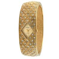 Peugeot Women's Vintage Goldtone Crystal Bangle Watch
