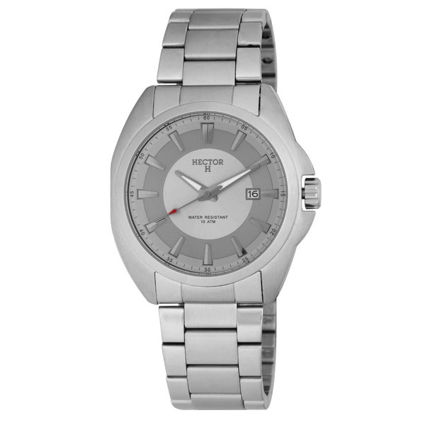 Hector H Men's Stainless Steel Grey Date Watch