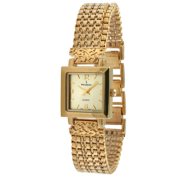 Peugeot Women's Antique Five Strand Goldtone Chain Watch