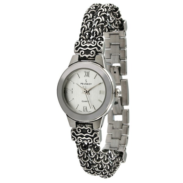 Peugeot Women's Antique Silvertone Chain Watch