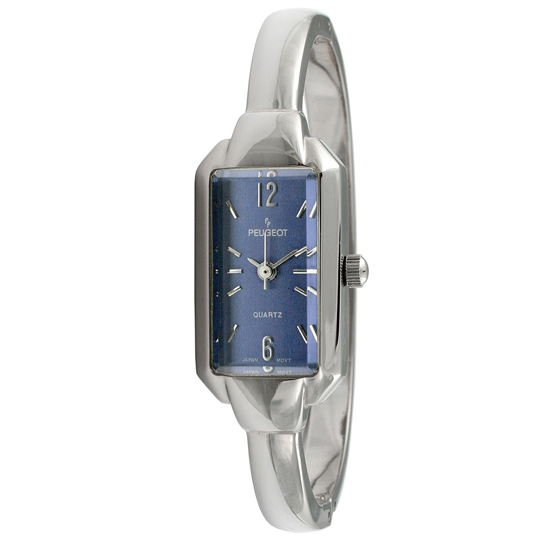 Shop Peugeot Women S Vintage Blue Dial Bangle Watch Free