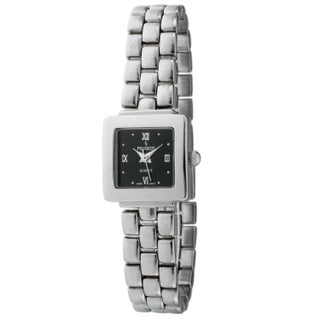 Peugeot Women's Black Dial Silvertone Watch