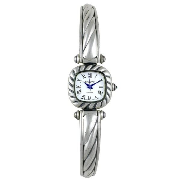 Peugeot Women's Antique Pewter Cuff Watch
