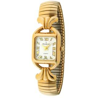 Peugeot Women's Goldtone Expansion Watch|https://ak1.ostkcdn.com/images/products/7194564/7194564/Peugeot-Womens-Goldtone-Expansion-Watch-P14681309.jpg?impolicy=medium