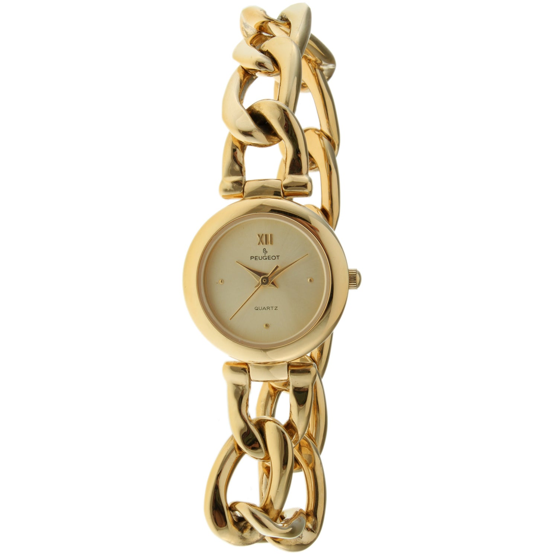 Peugeot Women's Goldtone Chain Link Watch