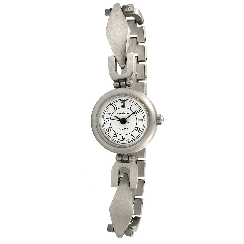 Peugeot Women's Vintage Brushed Metal Watch
