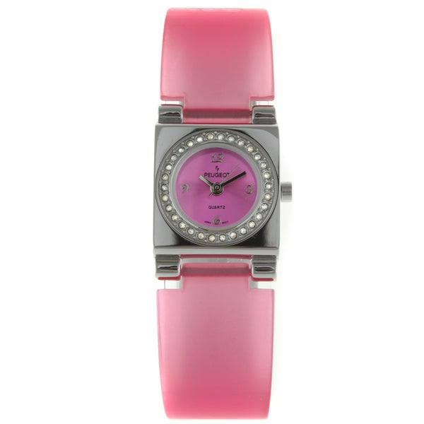 Peugeot Women's Pink Lucite Crystal Accented Watch