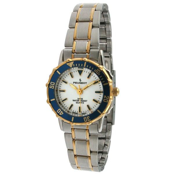 Peugeot Women's Blue Bezel Two-tone Watch