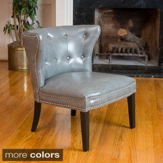 Bridget Leather Accent Chair by Christopher Knight Home