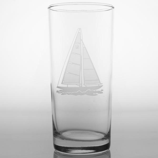 Rolf Glass Sailboat Cooler 15-ounce (Set of 4)