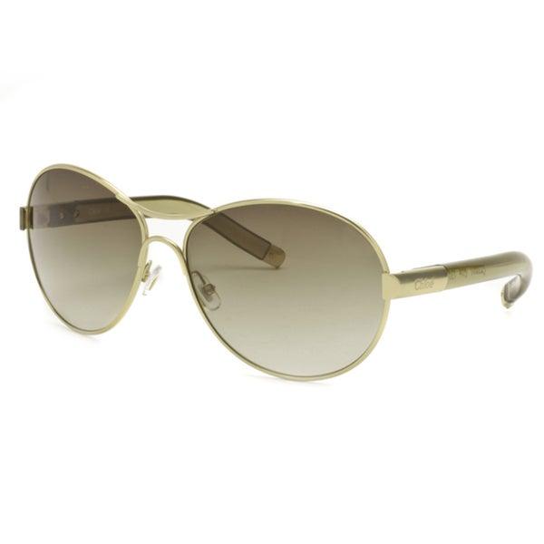 Chloe Women's Aviator Sunglasses Eyewear