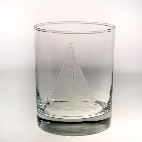Rolf Glass Sailboat Double Old Fashion (Set of 4)