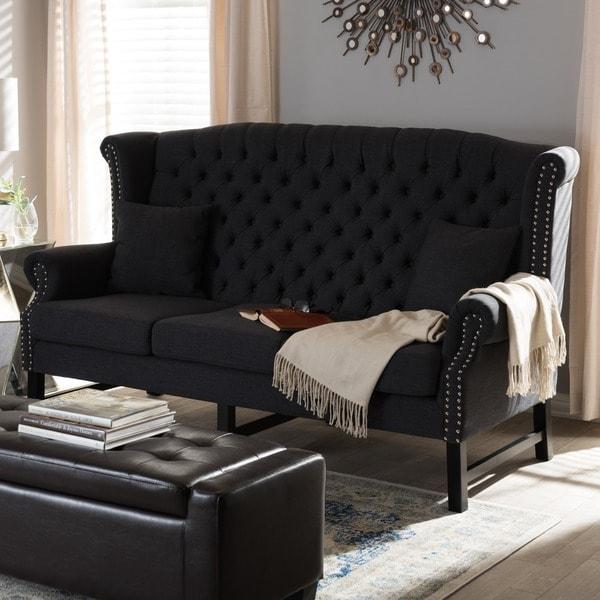 Sussex Dark Grey Linen Sofa
