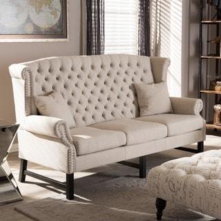 Sussex Beige Linen Sofa