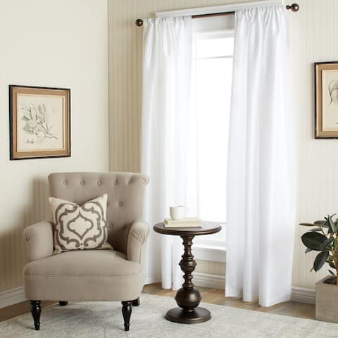 The Gray Barn Dogwood White Faux Silk 84-inch Curtain Panel - 54 x 84