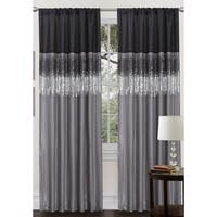 Laurel Creek Effie Two-tone Faux Silk 84-inch Night Sky Curtain Panel