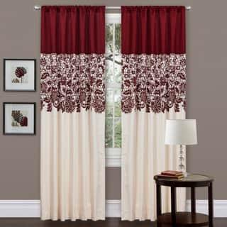 Lush Decor Red Faux Silk 84-inch Estate Garden Curtain Panel|https://ak1.ostkcdn.com/images/products/7194872/P14681573.jpg?impolicy=medium