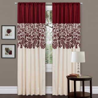 Lush Decor Red Faux Silk 84-inch Estate Garden Curtain Panel