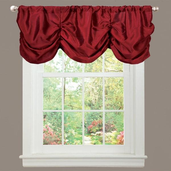 Lush Decor Red Faux Silk Estate Garden Window Valance