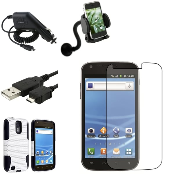 BasAcc Case/Screen Protector/Mount Bundle for Samsung© Galaxy S2 T989