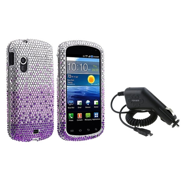 BasAcc Purple Case/ Car Charger for Samsung Stratosphere i405