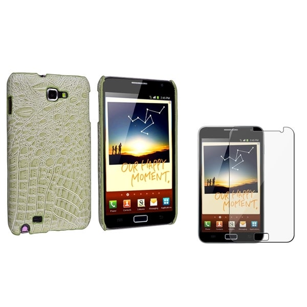 BasAcc Olive Case/ Screen Protector for Samsung Galaxy Note N7000