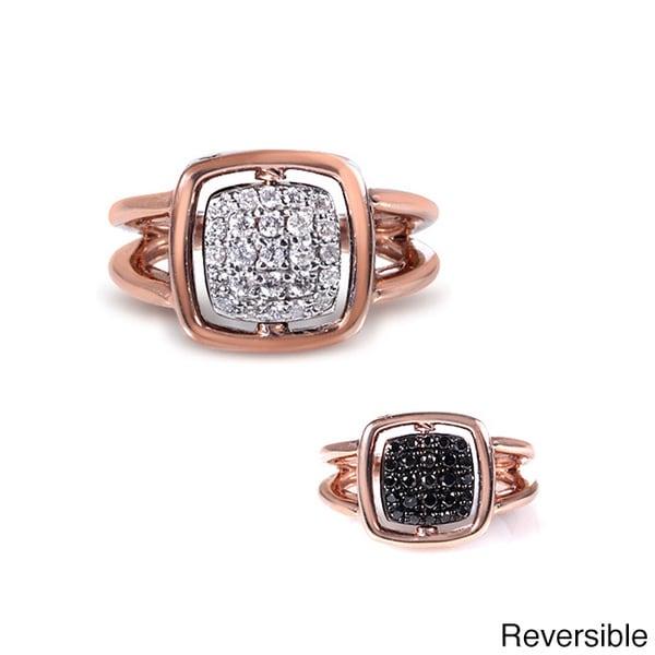 Annello by Kobelli Nitez N Daze 14k Rose Gold 1/2ct TDW Diamond Two-sided Ring (G-H, I1-I