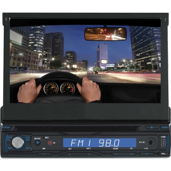 "Supersonic SC-405 Car DVD Player - 7"" Touchscreen LCD - Single DIN"