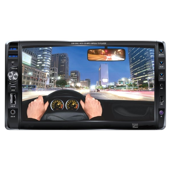 "Supersonic SC-732 Car DVD Player - 7"" Touchscreen LCD - 16:9 - Double"