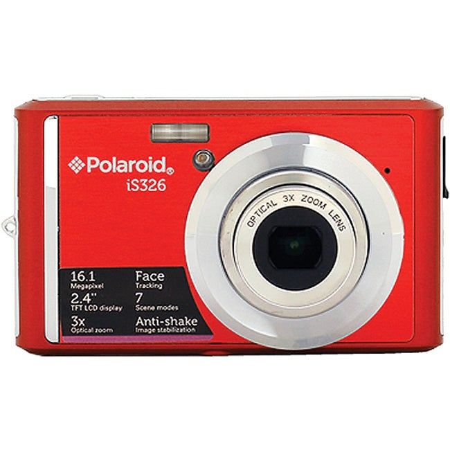 Polaroid iS326 16MP Red Digital Camera - Thumbnail 0