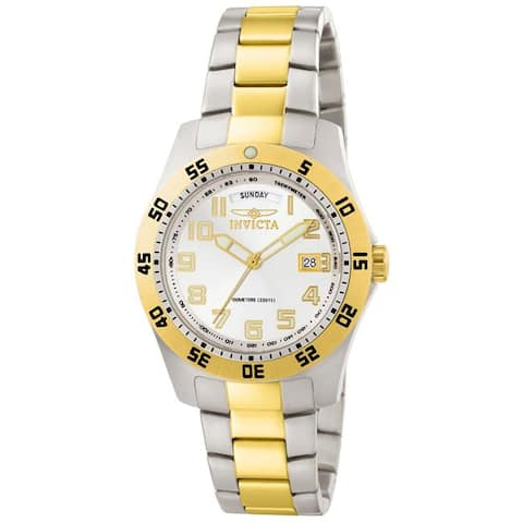 Invicta Men's Invicta Ii White Dial Two-Tone Stainless Steel Watch