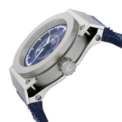 Invicta Men's Akula Blue Dial Blue Leather GMT Watch - Thumbnail 2