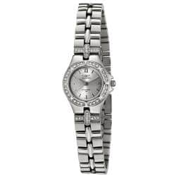 Invicta Women's 132 Wildflower Stainless Steel White Crystal Watch|https://ak1.ostkcdn.com/images/products/72/209/P13134601.jpg?impolicy=medium