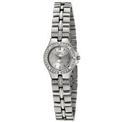 Invicta Women's 132 Wildflower Stainless Steel White Crystal Watch