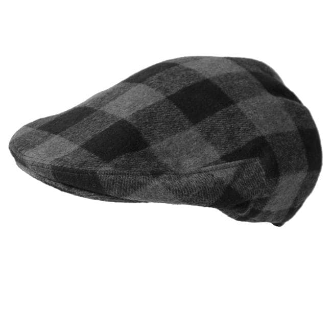 Boston Traveler Men's Plaid Ivy Flap Cap