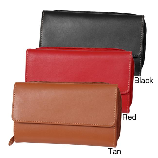 M Collection Women's 'Fat Wallet' Organizer Clutch - Thumbnail 0