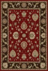 Royal Treasures Red Floral Rug (5'3 x 7'3) - Thumbnail 1